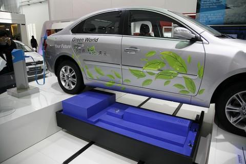Der Cherry Riich G5 bei der Pekinger Automesse (Foto: Better Place)