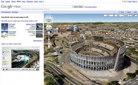 Google Maps - Earth View als neue Option neben der Karten- und Satellitenansicht