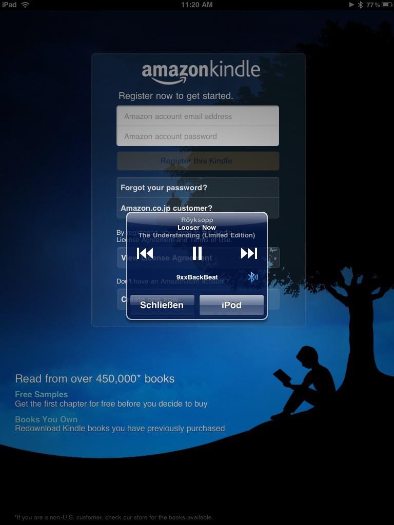 Test: iPad - beeindruckend, aber nicht magisch - Amazons Kindle-Anwendung und die iTunes-Steuerung per Doppelklick auf dem Home-Button