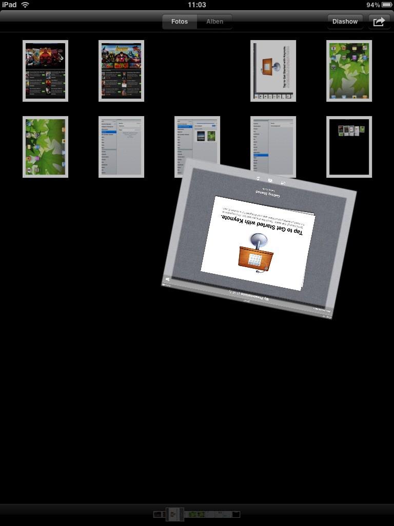 Test: iPad - beeindruckend, aber nicht magisch - Sogar drehen lassen sich Bilder. Das ist allerdings reine Spielerei.