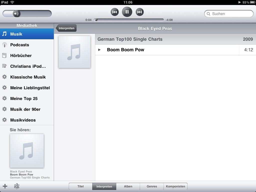 Test: iPad - beeindruckend, aber nicht magisch - iTunes im Querformat ...