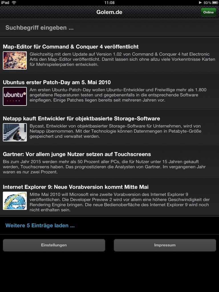 Test: iPad - beeindruckend, aber nicht magisch - Das iPad und Golem.de