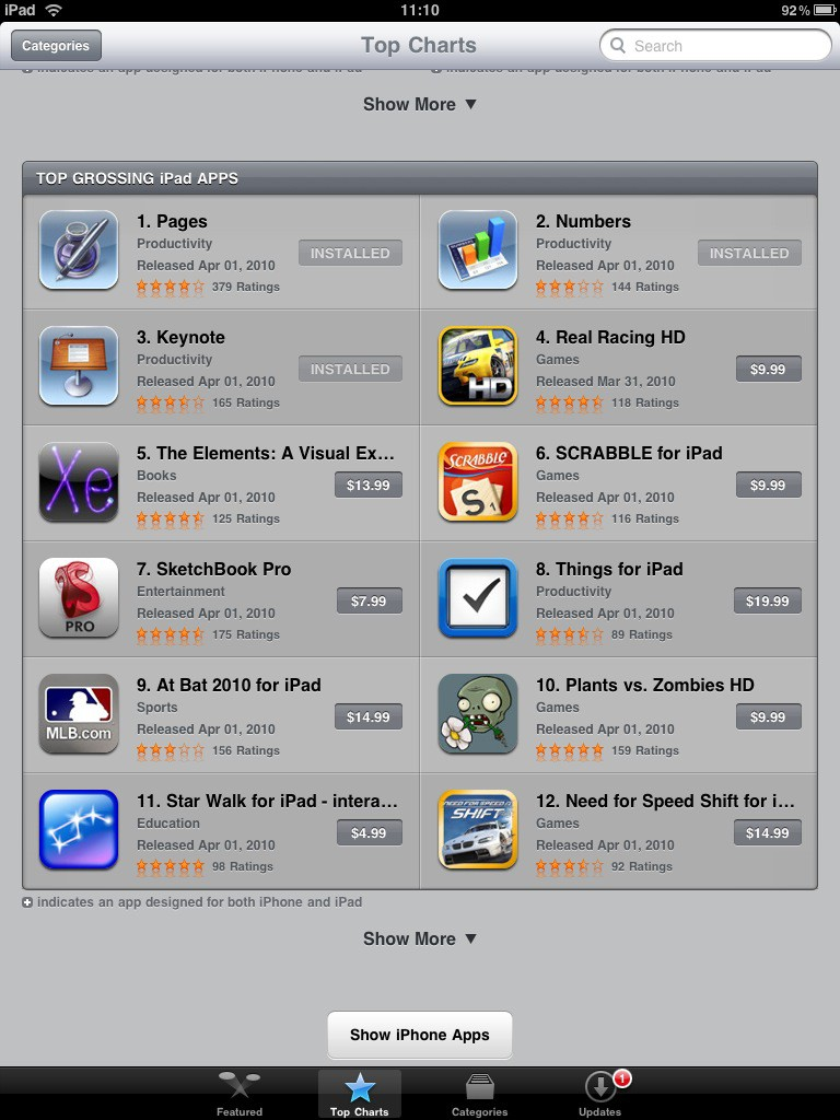 Test: iPad - beeindruckend, aber nicht magisch - App Store mit iPad ...