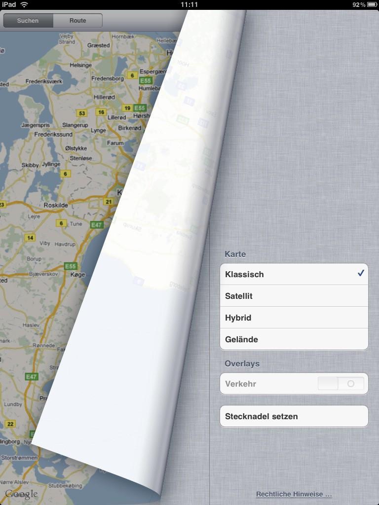 Test: iPad - beeindruckend, aber nicht magisch - Einstellungen von Google Maps