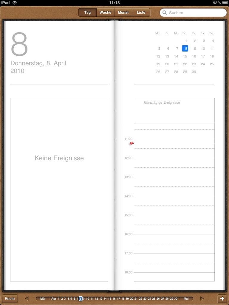Test: iPad - beeindruckend, aber nicht magisch - Kalender