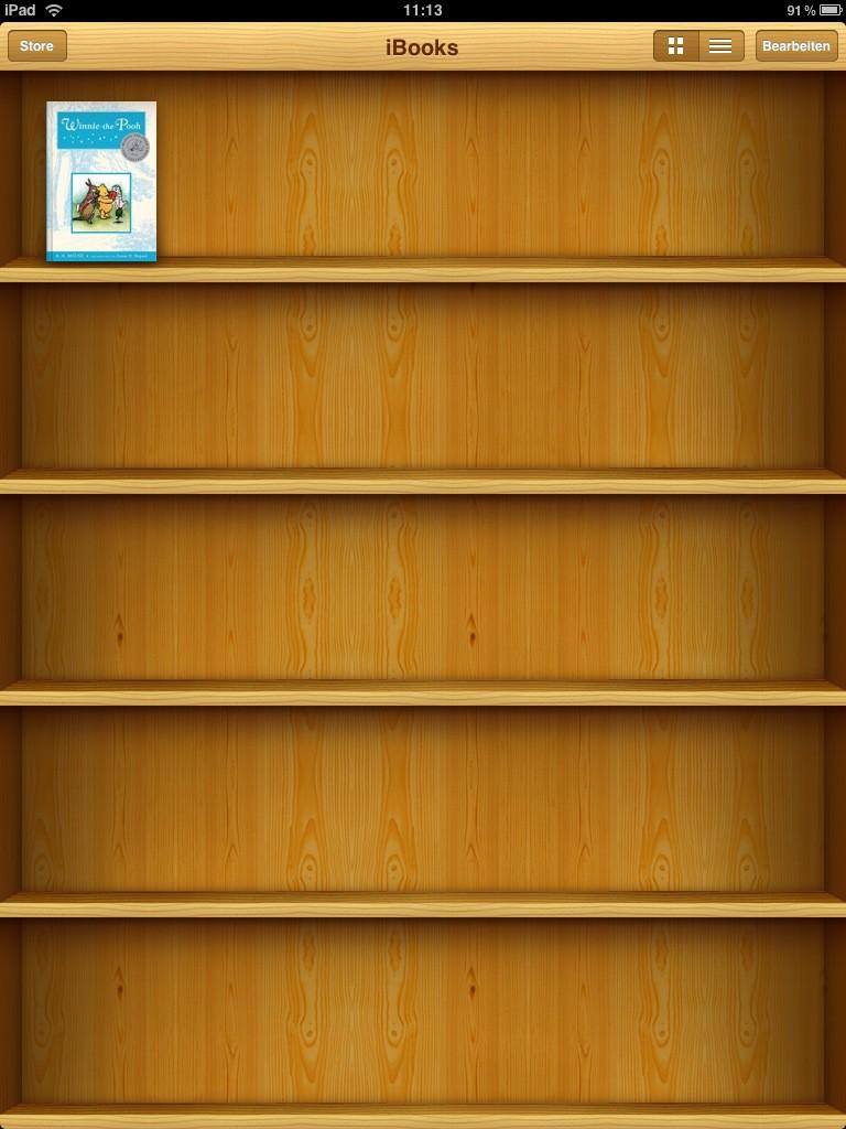 Test: iPad - beeindruckend, aber nicht magisch - Die iBooks. Die App muss erst heruntergeladen werden.