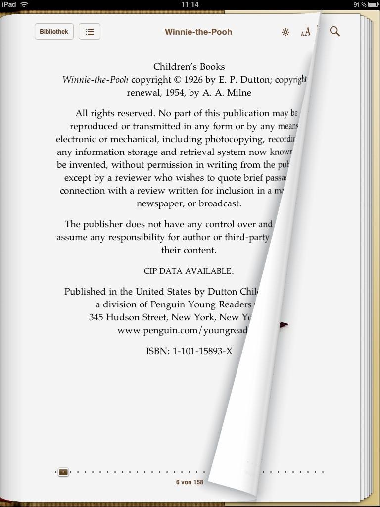 Test: iPad - beeindruckend, aber nicht magisch - Hochformat der iBooks