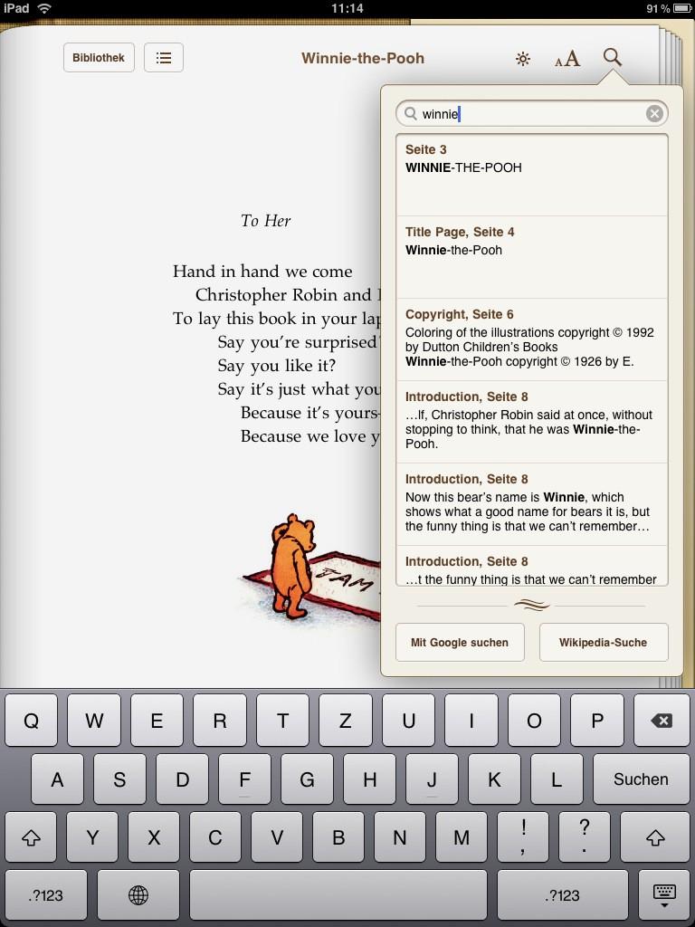 Test: iPad - beeindruckend, aber nicht magisch - Suche in iBooks