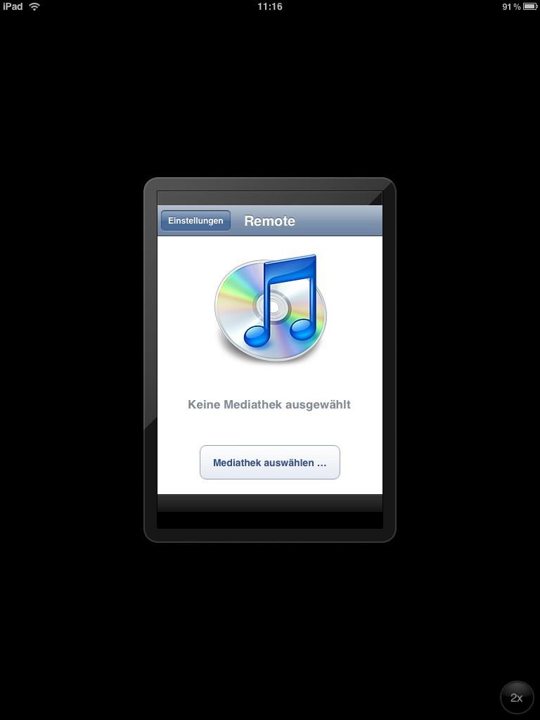 Test: iPad - beeindruckend, aber nicht magisch - Apples eigene Remote ist noch nicht angepasst.