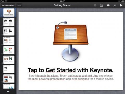 Keynote für das iPad