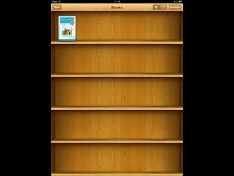 Die iBooks. Die App muss erst heruntergeladen werden.