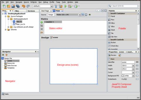 JavaFX-Entwicklung im Netbeans-Composer