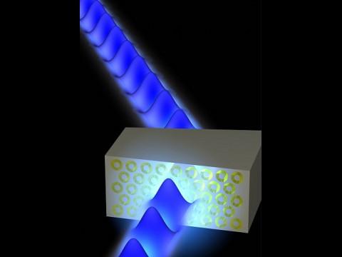Querschnitt durch das Metamaterial (Grafik: Caltech/Stanley Burgos)