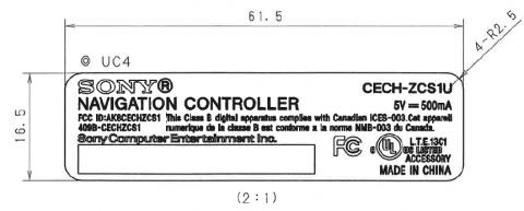 Diesen Aufkleber wird der Navigation-Controller von Playstation Move laut FCC-Dokument tragen.