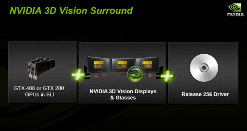 Das, und 3D-Monitore, braucht man für 3D Vision Surround.