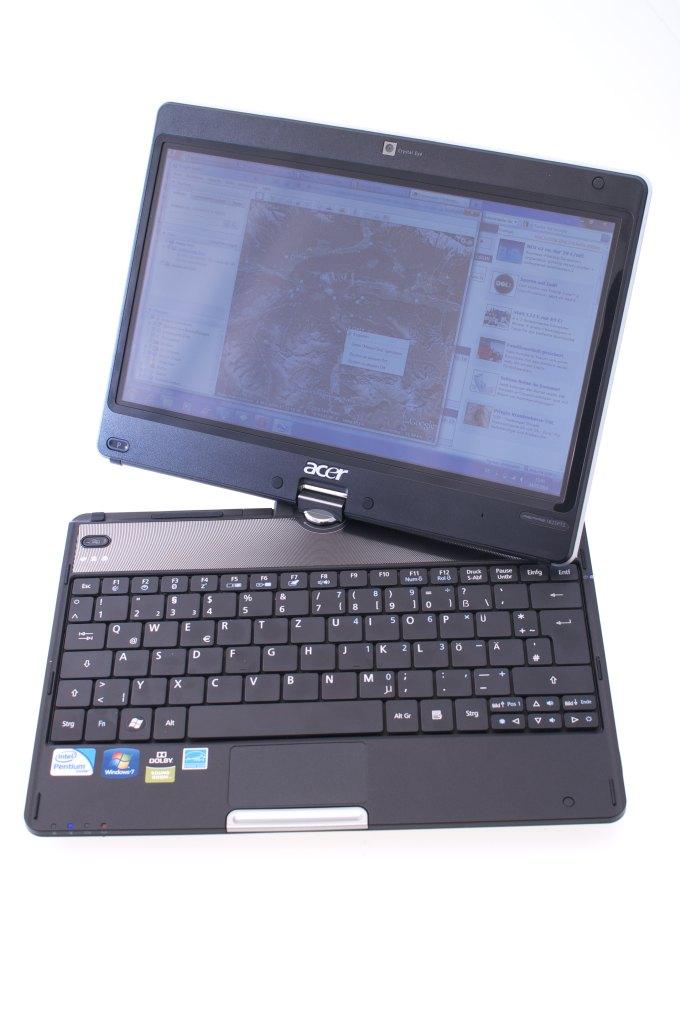 Aspire 1825PTZ im Test: Acers Einstiegstablet mit wegdrehbarer Tastatur - Acer Aspire 1825PTZ