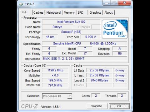 Intels SU4100