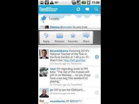 Twitter-Client für Android