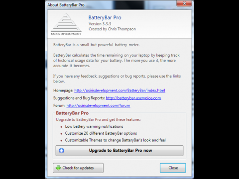 Batterybar für Windows