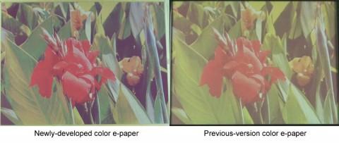 Neue Generation von farbigem elektronischem Papier mit verbessertem Kontrast und helleren Farben