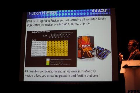 Der Hydra-Chip erlaubt es dem Nutzer, auch Grafikchips einer Familie untereinander zu kombinieren. Hier Nvidia ...