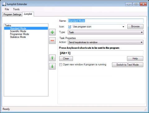 Jumplist Extender - Sprungliste für den Windows-Taschenrechner erstellen