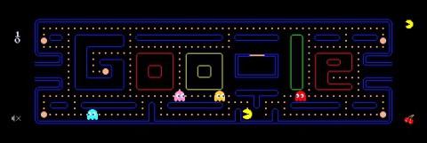 Pac-Man auf Google.de