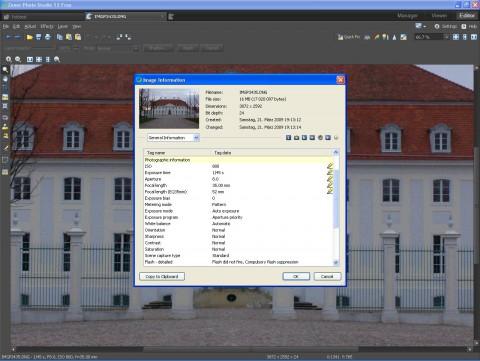 Zoner Photo Studio Free - Exif-Daten können bearbeitet werden.