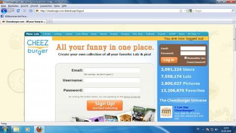 Registrierung und Login - Cheezburger.com
