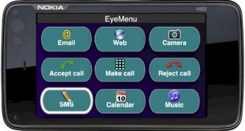 Das Menü auf dem Bildschirm des Smartphones (Foto: Dartmouth College)