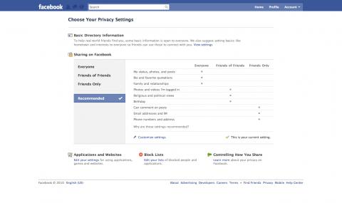 Neue Facebook-Privatsphäre-Einstellungen