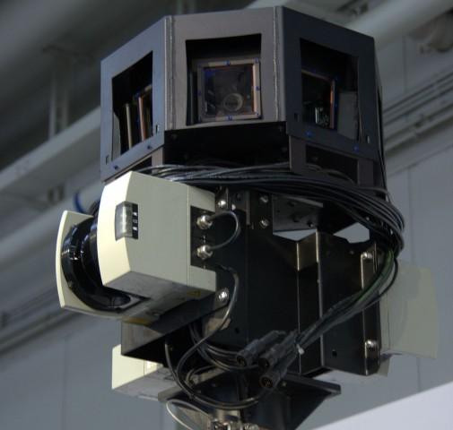 Nicht nur Fotos gemacht: Datenerfassungseinrichtung auf dem Dach.  (Foto: Werner Pluta/Golem.de)