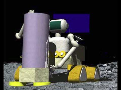 Mit solchen Robotern...  (Grafik: Jaxa)