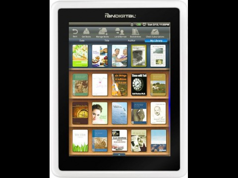 Pandigitals Novel ist ein E-Book-Reader mit Farbdislay. (Foto: Pandigital)