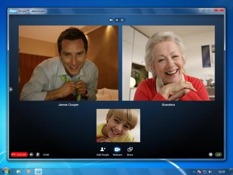 Vorschau auf den Gruppen-Videochat von Skype
