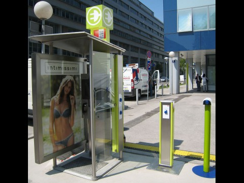 Telefonzelle mit Ladesäule in Wien (Foto: Telekom Austria)