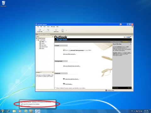 VMware Workstation 7.1 - virtualisierte Anwendung in der Windows-7-Taskleiste