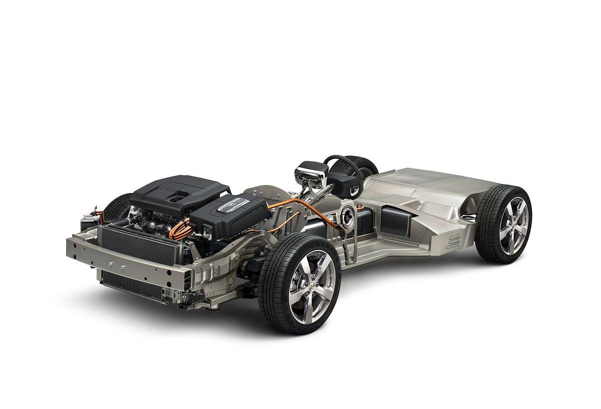 Elektroauto: GM gibt acht Jahre Garantie auf den Akku des Volt - ... dann springt der Range Extender an und versorgt den Elektromotor mit Strom. (Foto: GM)