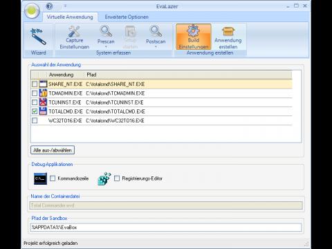 Applikationsvirtualisierung mit Evalaze