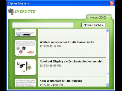 Evernote-Firefox-Plugin