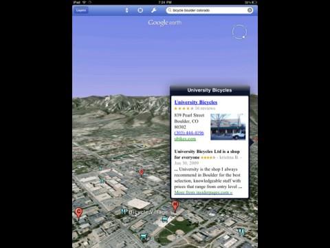 Google Earth 3.0 auf dem iPad
