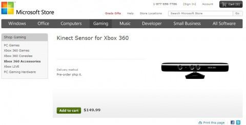 Kinect im US-Store von Microsoft