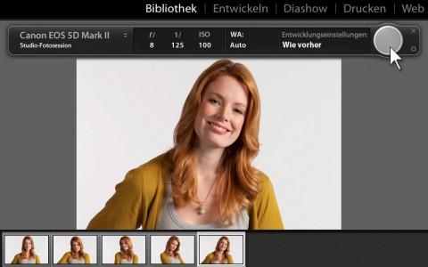 Adobe Lightroom - Aufnahme mit direkter Kameraanbindung (Bild: Adobe)