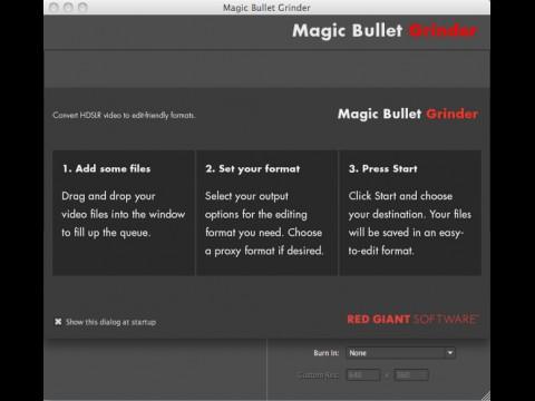 Magic Bullet Grinder - Startbildschirm