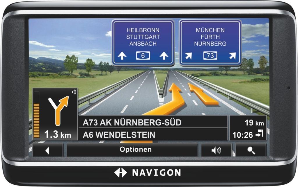 Autonavigation: Navigon bringt vier neue Mittelklasse-Navis - Navigon 40 Plus
