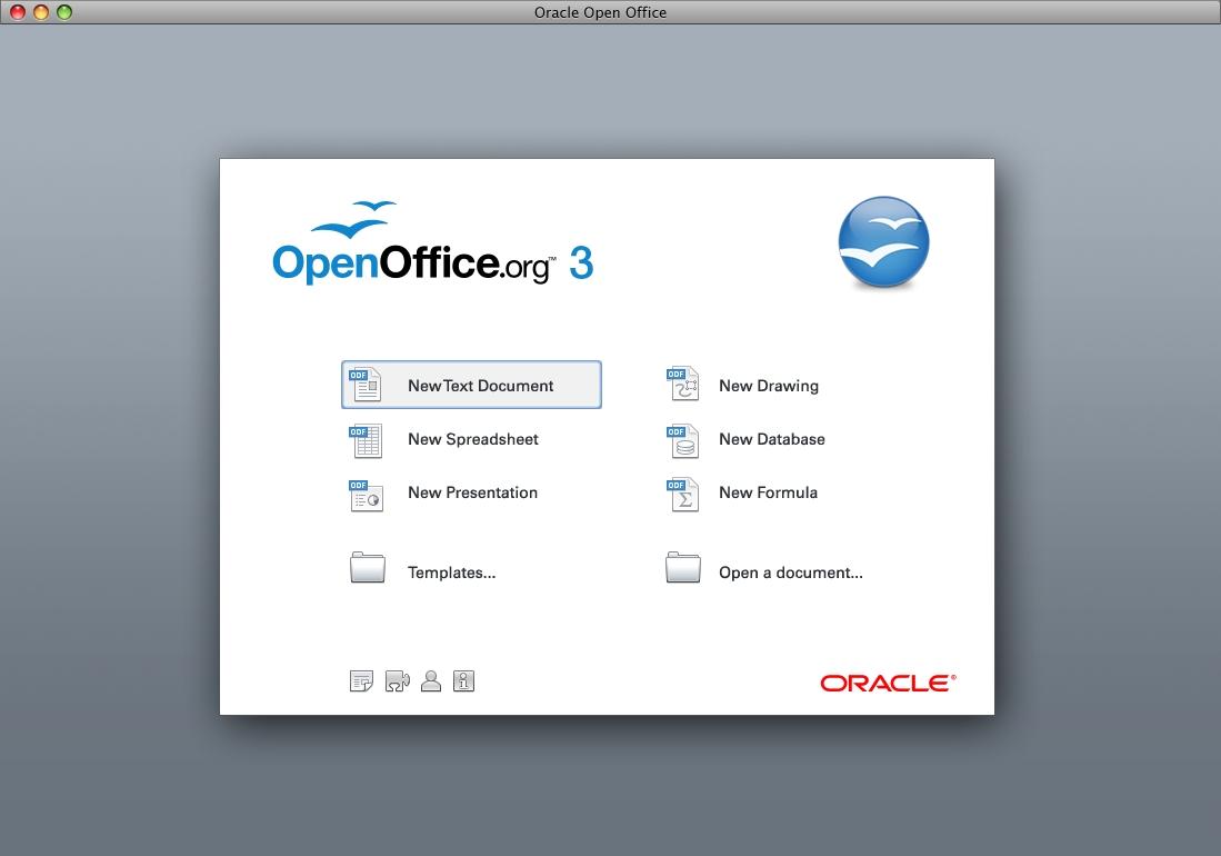 Openoffice.org 3.2.1: Erste Version der Office-Suite unter der Regie von Oracle - Startcenter von Openoffice.org 3.2.1
