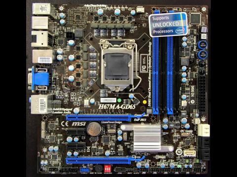 MSI-Mainboard mit LGA 1155 und ohne PCI