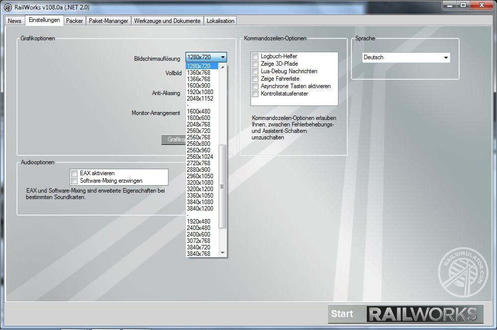 Spieletest Train Simulator 2010: Schöne Landschaften im Zugsimulator - Grobe Einstellungen ...