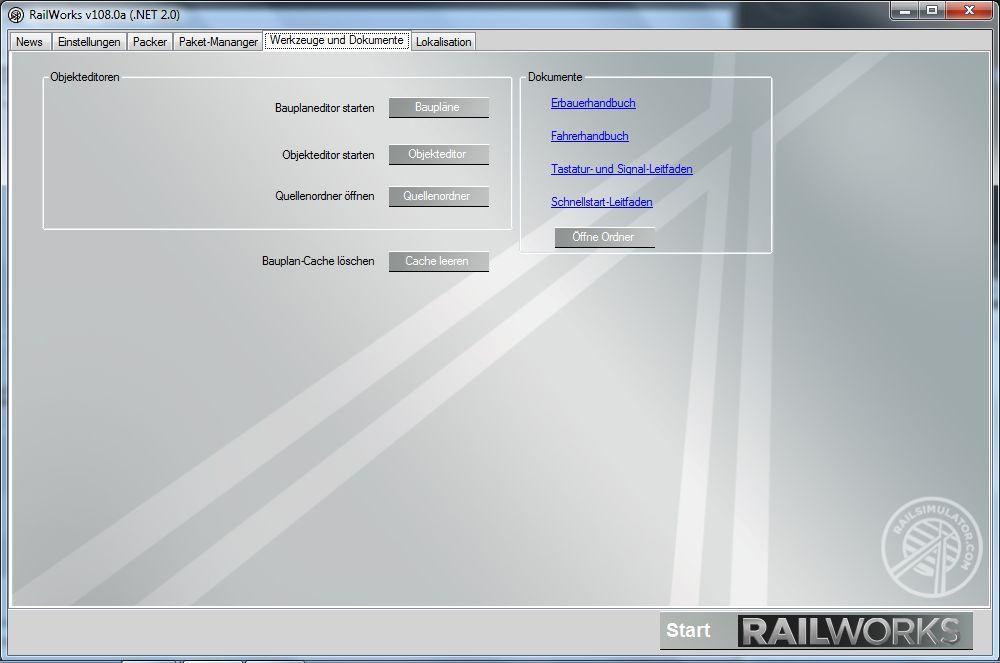 Spieletest Train Simulator 2010: Schöne Landschaften im Zugsimulator - ... im Launcher