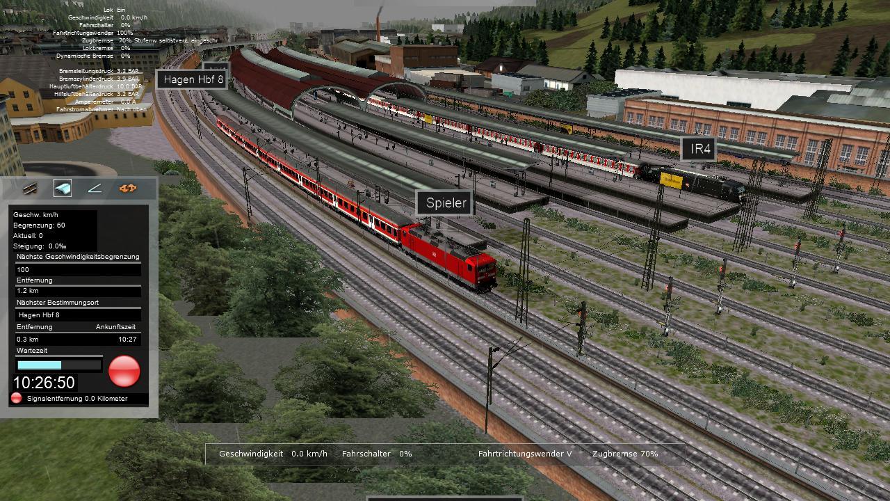 Spieletest Train Simulator 2010: Schöne Landschaften im Zugsimulator - Kurz vor der Abfahrt